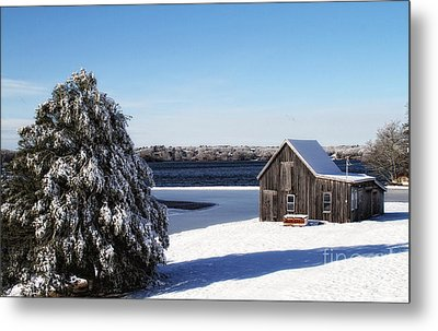 Metal Print featuring the photograph Winter Time by Gina Cormier