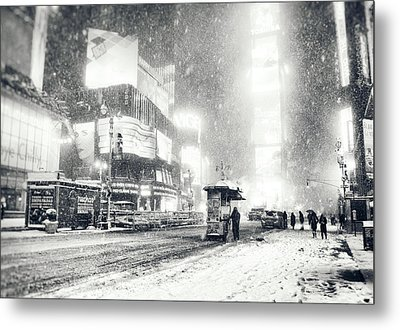 Winter - Times Square - New York City Metal Print