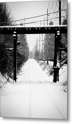 Aaron Berg Metal Print featuring the photograph Winter Tracks by Aaron Berg