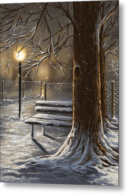 Winter Trilogy 1 Metal Print by Veronica Minozzi