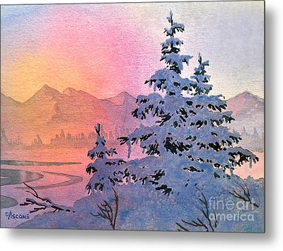 Winter Twilight Metal Print by Teresa Ascone