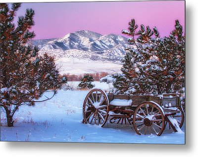 Winter Wagon Metal Print by Darren  White