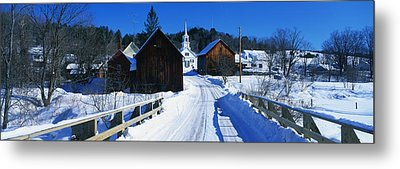 Winter Waits River Vt Metal Print by Panoramic Images