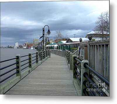 Metal Print featuring the photograph Winter Walk  by Bob Sample