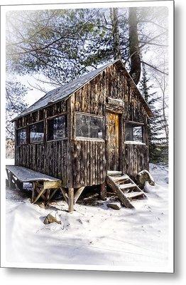 Winter Warming Hut Metal Print by Edward Fielding