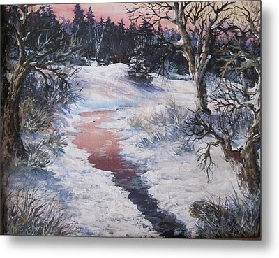 Metal Print featuring the painting Winter Warmth by Megan Walsh