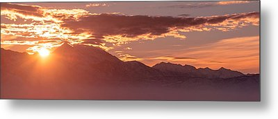 Winter Wasatch Daybreak Metal Print by Chad Dutson