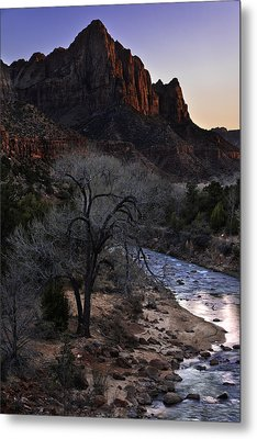 Winter Watchman Metal Print by Chad Dutson