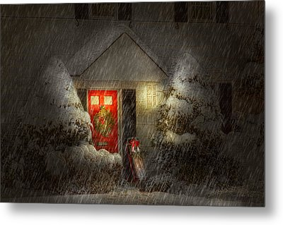 Winter - Westfield Nj - T'was The Night Before Christmas  Metal Print by Mike Savad