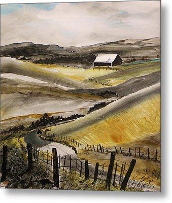 Winter Wheat Metal Print by John Williams