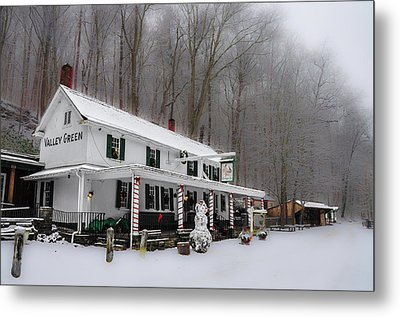 Winter Wonderland At The Valley Green Inn Metal Print by Bill Cannon