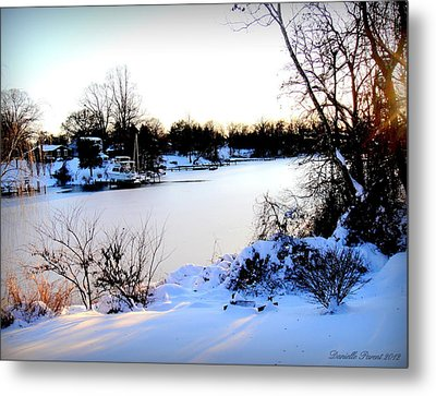 Winter Wonderland  In Maryland Usa Metal Print