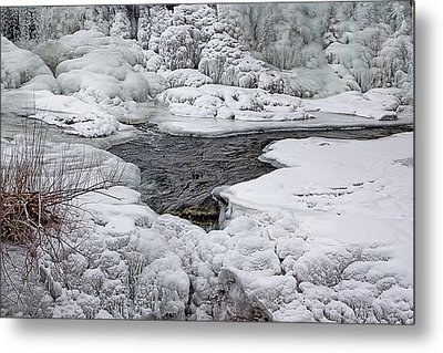 Metal Print featuring the photograph Vermillion Falls Winter Wonderland by Patti Deters