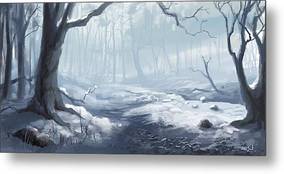 Winter Wood Metal Print by Sean Seal