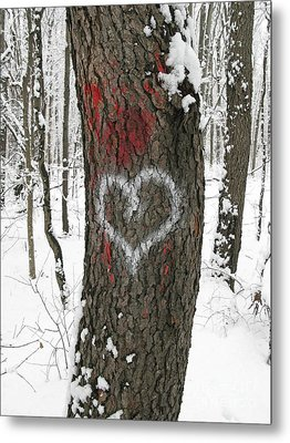 Winter Woods Romance Metal Print by Ann Horn