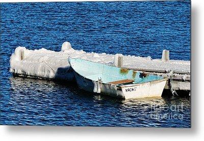 Winter Yacht Metal Print