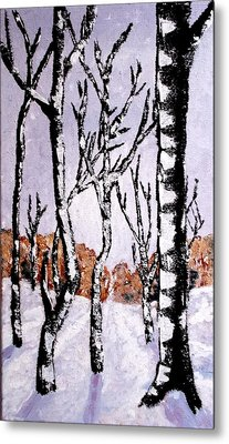 Metal Print featuring the painting Winterforest by Zeke Nord