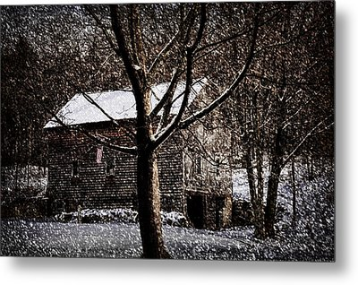 Winters At The Farm Metal Print by Tricia Marchlik