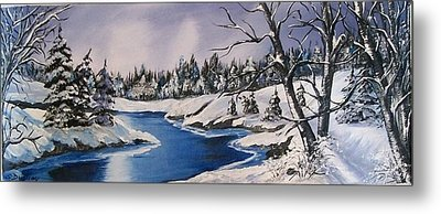 Metal Print featuring the painting Winter's Blanket by Sharon Duguay