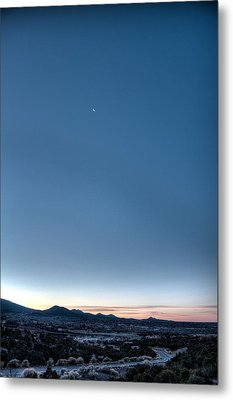 Metal Print featuring the photograph Winter's Dawn Over Santa Fe No.1 by Dave Garner