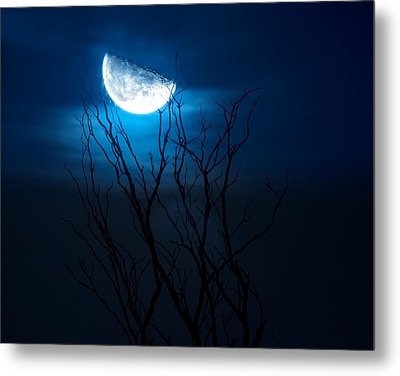 Winter's Eve Moon Metal Print by Mark Andrew Thomas