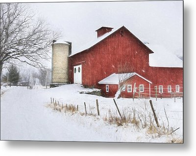 Winter's Grip Metal Print by Lori Deiter