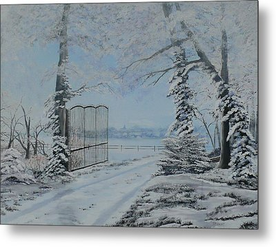Winter's Grip Metal Print