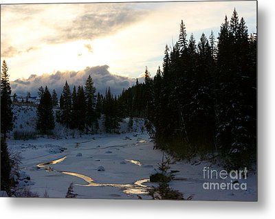 Winter's Sunrise Metal Print by Birches Photography