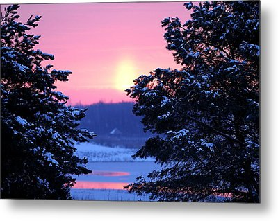 Metal Print featuring the photograph Winter's Sunrise by Elizabeth Winter