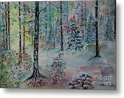 Metal Print featuring the painting Winters Wonderland by Alfred Motzer