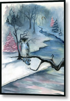 Metal Print featuring the painting Winterwood by Terry Webb Harshman