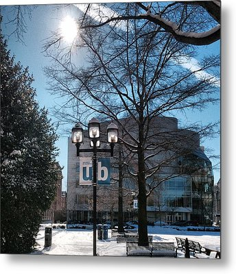 Wintery Gordon Plaza  Metal Print