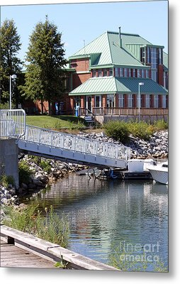 Metal Print featuring the photograph Winthrop Harbor Shore by Debbie Hart
