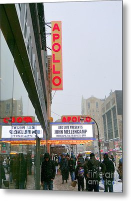 Wintry Day At The Apollo Metal Print