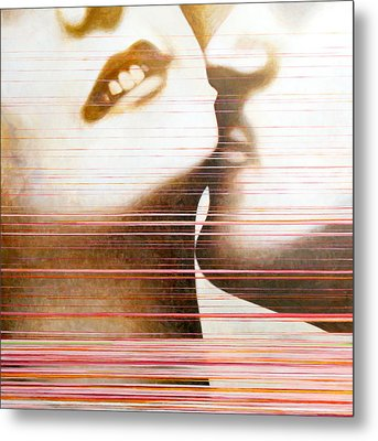 Wipe Metal Print by Sandra Cohen