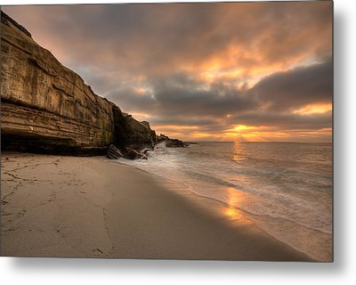 Wipeout Beach Sunset Metal Print by Peter Tellone