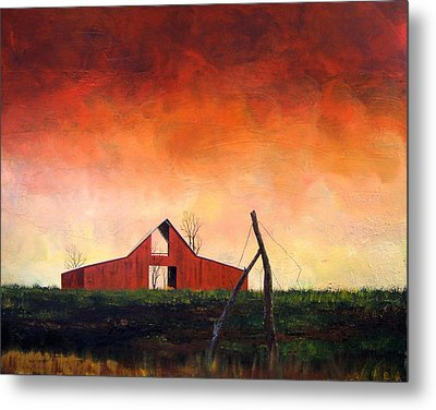 Metal Print featuring the painting Wired Down by William Renzulli