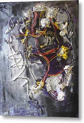 Metal Print featuring the painting Wirefly by Lucy Matta