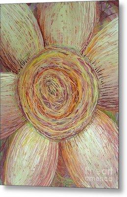 Wiry Sunflower Metal Print by Anna Skaradzinska