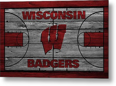 Wisconsin Badger Metal Print by Joe Hamilton