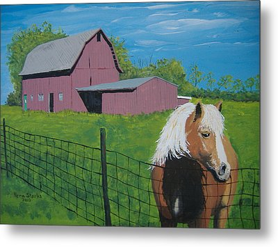 Wisconsin Barn Metal Print by Norm Starks