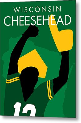 Wisconsin Cheesehead Metal Print