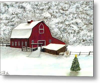 Wisconsin Christmas Metal Print