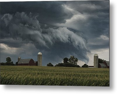 Wisconsin Farm Metal Print by Jack Zulli