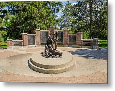 Metal Print featuring the photograph Wisconsin State Firefighters Memorial 1 by Susan  McMenamin