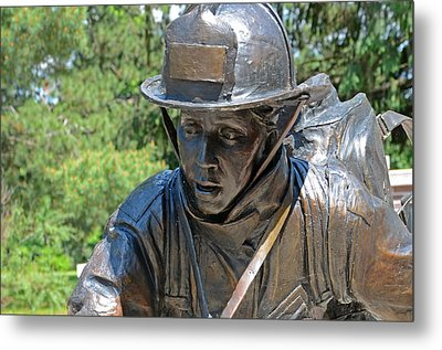 Metal Print featuring the photograph Wisconsin State Firefighters Memorial 3  by Susan  McMenamin