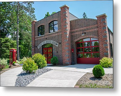 Metal Print featuring the photograph Wisconsin State Firefighters Memorial 6 by Susan  McMenamin