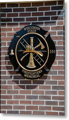 Metal Print featuring the photograph Wisconsin State Firefighters Memorial Park 5 by Susan  McMenamin