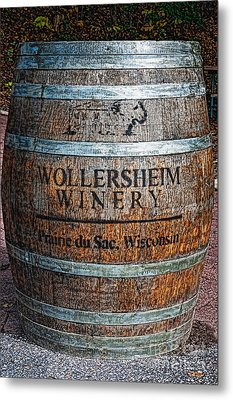 Wisconsin Wine Barrel Metal Print