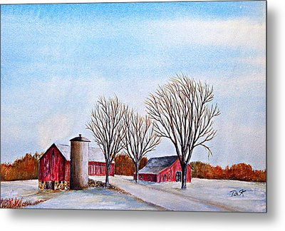 Wisconsin Winter Metal Print by Thomas Kuchenbecker